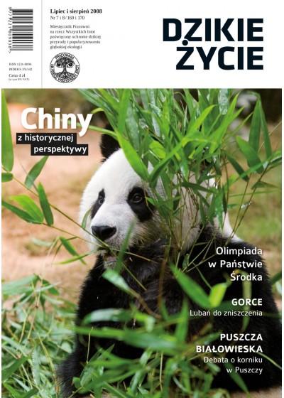 Dzikie Życie 2008, nr 7-8 (169-170), lipiec-sierpień