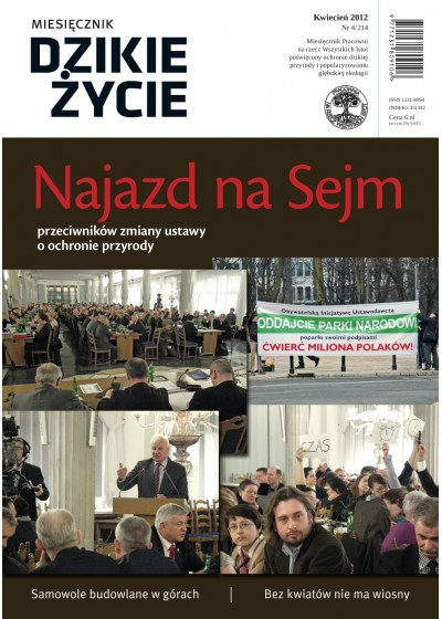 Dzikie Życie 2012, nr 4 (214), kwiecień