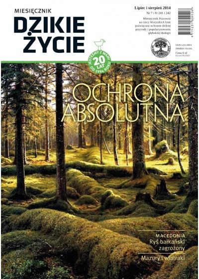 Dzikie Życie 2014, nr 7-8 (241-242), lipiec-sierpień