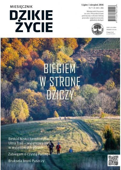 Dzikie Życie 2016, nr 7-8 (265-266), lipiec-sierpień